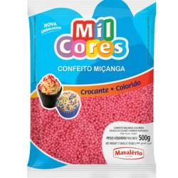 CONFEITO MICANGA 500G ROSA MIL CORES