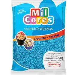 CONFEITO MICANGA 500G AZUL MAVALERIO