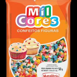 CONFEITO FIGURA 50G ESTRELINHA MIL CORES