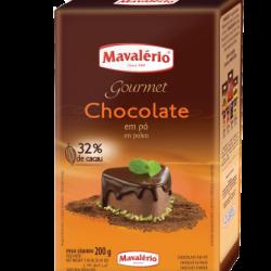 CHOCOLATE EM PO 32% CACAU 200G MAVALERIO