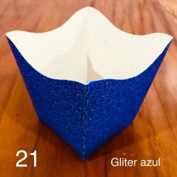CACHEPOT GLITER AZUL C/10 NC TOYS