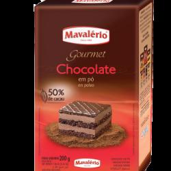 CHOCOLATE EM PO 50% CACAU 200G MAVALERIO