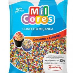 CONFEITO MICANGA COLORIDA Nº0 500G MIL CORES