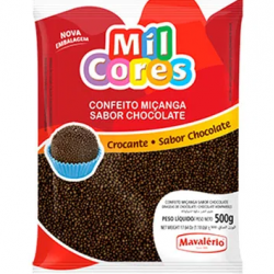 CONFEITO MIÇANGA DE BRIGADEIRO CROCANTE REDONDO 500G MAVALERIO