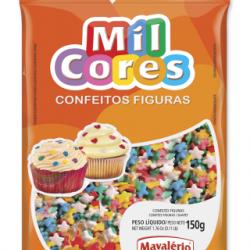 CONFEITO FIGURA 150G ESTRELINHA MIL CORES