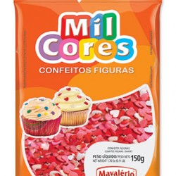 CONFEITO FIGURA 150G CORACAO MIL CORES