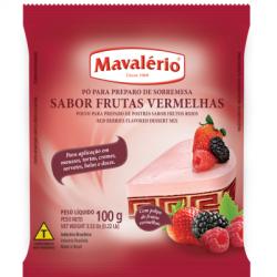 PO PARA PREPARO DE SOBREMESA DE FRUTAS VERMELHAS 100G MAVALERIO