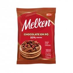 CHOCOLATE EM PO 50% CACAU MELKEN 1,05KG HARALD