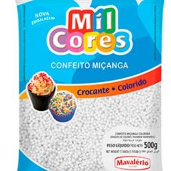 CONFEITO MICANGA 500G BRANCA MIL CORES