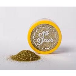 GLITTER PARA DECORAÇÃO GLOW OURO CLARO 5G ART DECOR