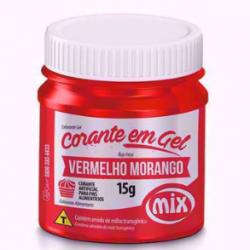 CORANTE GEL VERMELHO MORANGO 15G MIX
